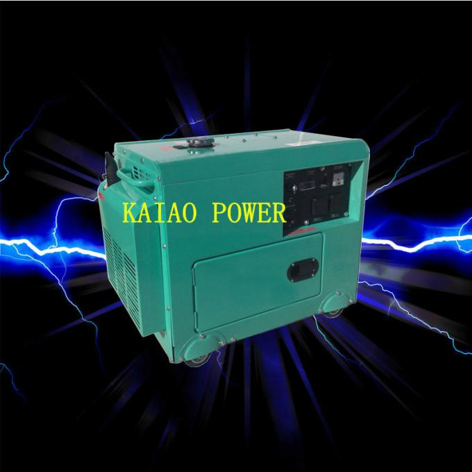 Backup Small Diesel Generators 5.0KW 72dB Noise Level , 912*532*740mm