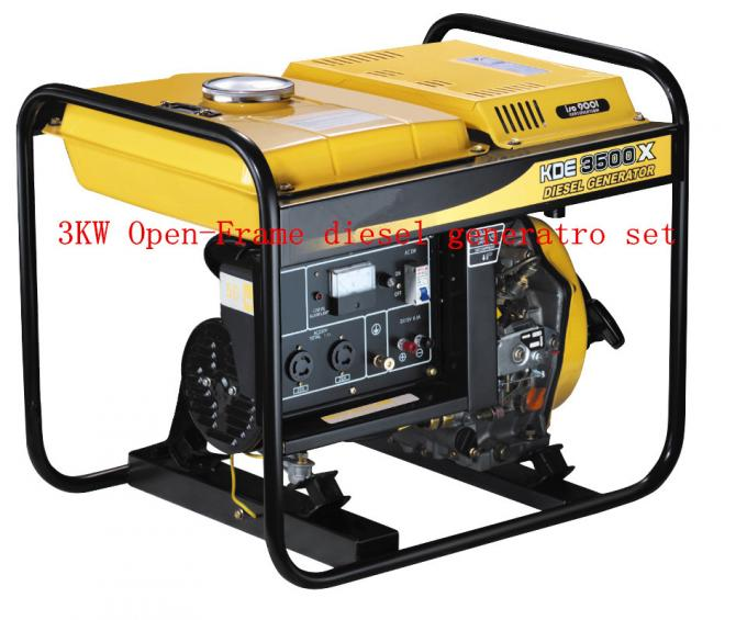 220 / 230V Air Cooled Open Frame Diesel Generators Low Oil Alarm System