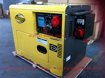 Trung Quốc 8KVA Yellow Color Silent Type Small Diesel Generators Set With ATS , Low Oil Alarm System nhà phân phối