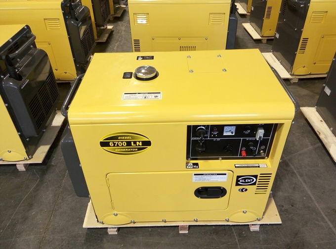 Commercial Super Quiet Small Diesel Generators Air Cooled 912 X 532 X 740 mm