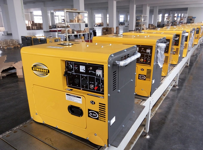 6000W AC Single Phase Double Voltage Small Diesel Generators 12 Months Warranty