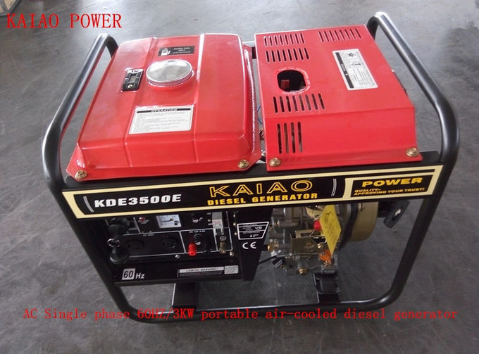 220V 230V 3000W Small Welder Generator Diesel With Ordinary Panel Board
