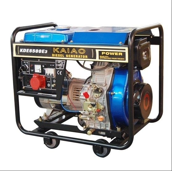 5KVA 3 Phase Portable Small Diesel Generators Set 760 X 515 X 710 mm KDE6500E3